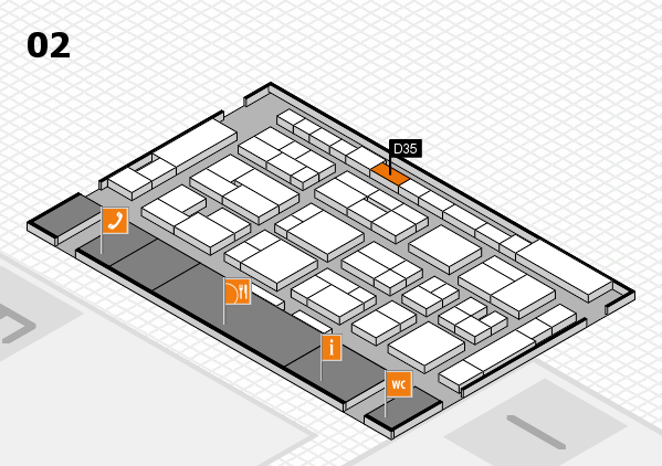 MEDICA 2016 hall map (Hall 2): stand D35