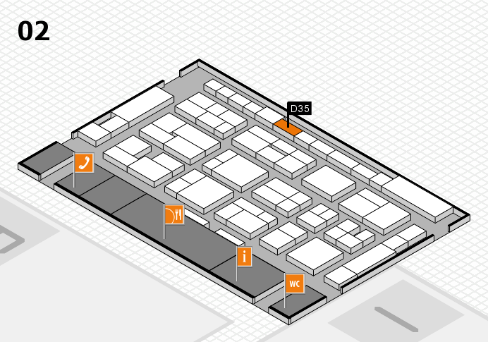 MEDICA 2016 hall map (Hall 2): stand D35