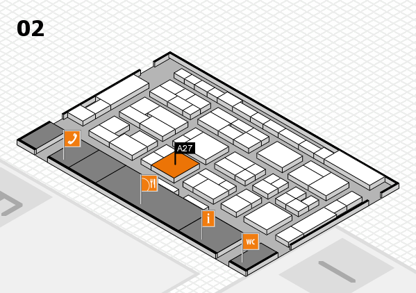 MEDICA 2016 hall map (Hall 2): stand A27