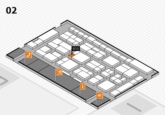 MEDICA 2016 hall map (Hall 2): stand B35