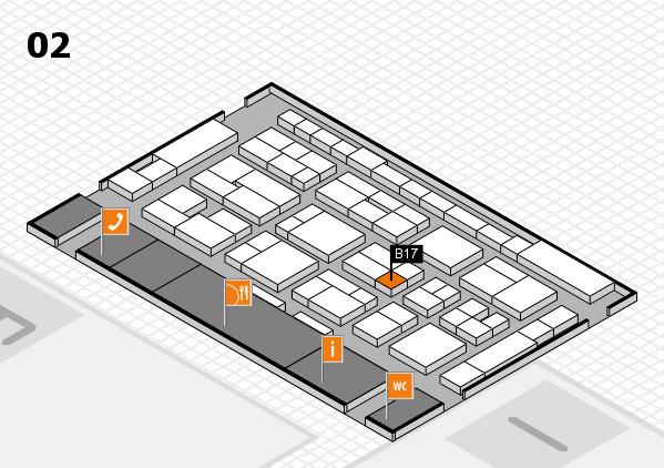 MEDICA 2016 Hallenplan (Halle 2): Stand B17