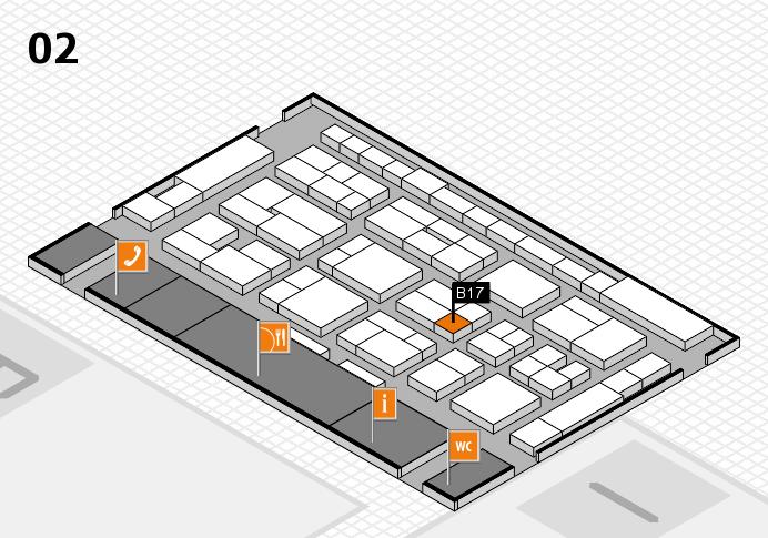 MEDICA 2016 hall map (Hall 2): stand B17