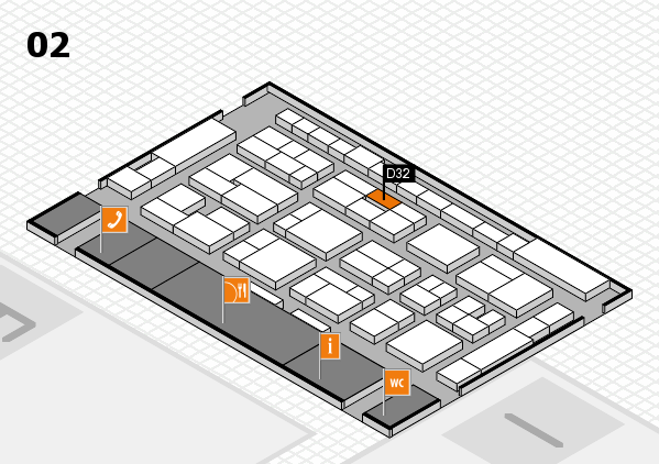 MEDICA 2016 hall map (Hall 2): stand D32