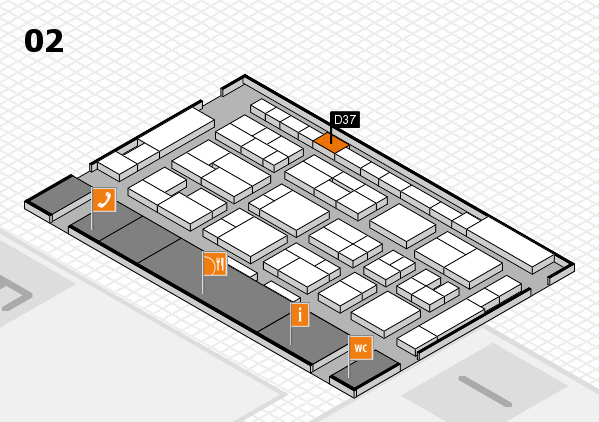 MEDICA 2016 hall map (Hall 2): stand D37