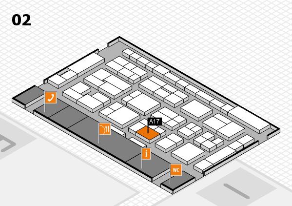MEDICA 2016 Hallenplan (Halle 2): Stand A17