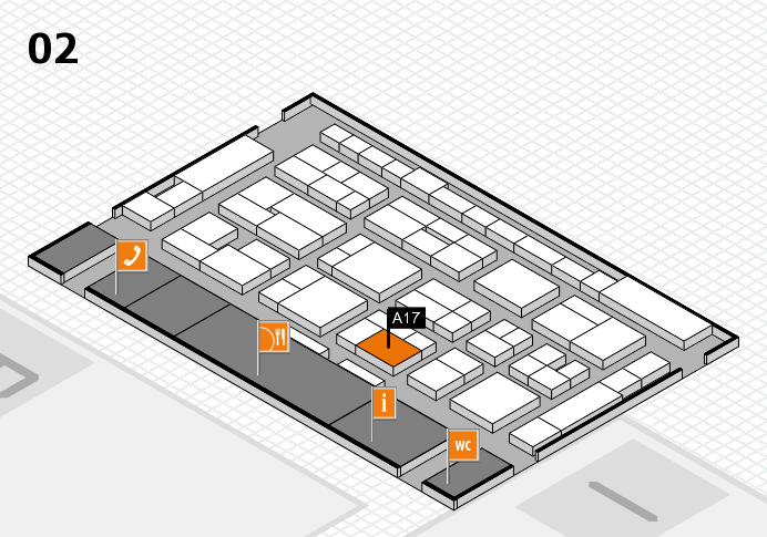 MEDICA 2016 hall map (Hall 2): stand A17