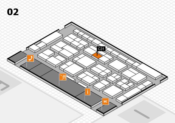 MEDICA 2016 hall map (Hall 2): stand C31
