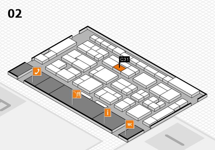 MEDICA 2016 Hallenplan (Halle 2): Stand C31