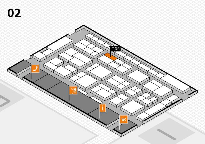 MEDICA 2016 hall map (Hall 2): stand D36