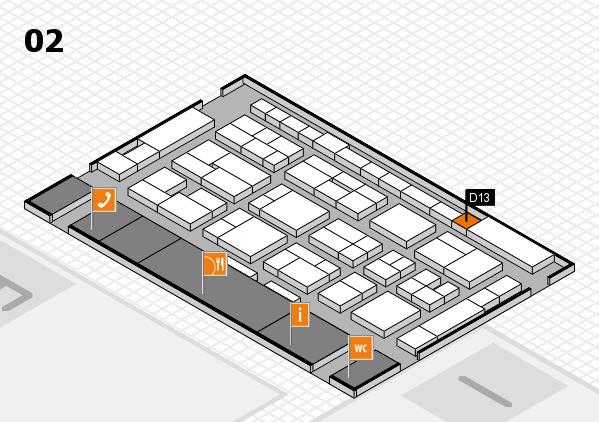 MEDICA 2016 Hallenplan (Halle 2): Stand D13