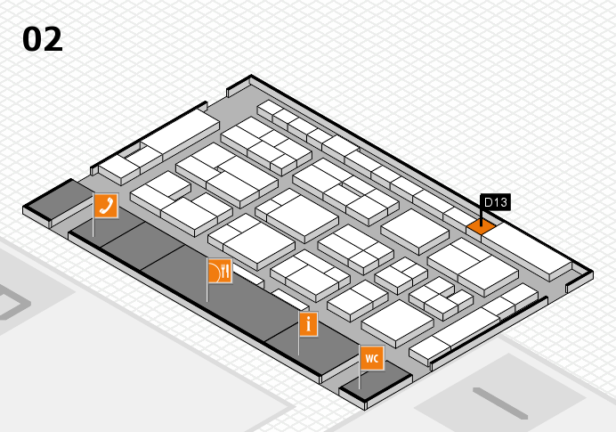 MEDICA 2016 hall map (Hall 2): stand D13