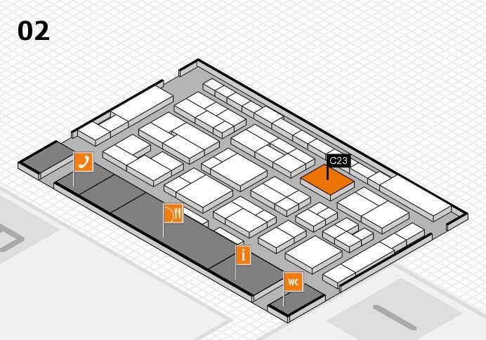 MEDICA 2016 Hallenplan (Halle 2): Stand C23