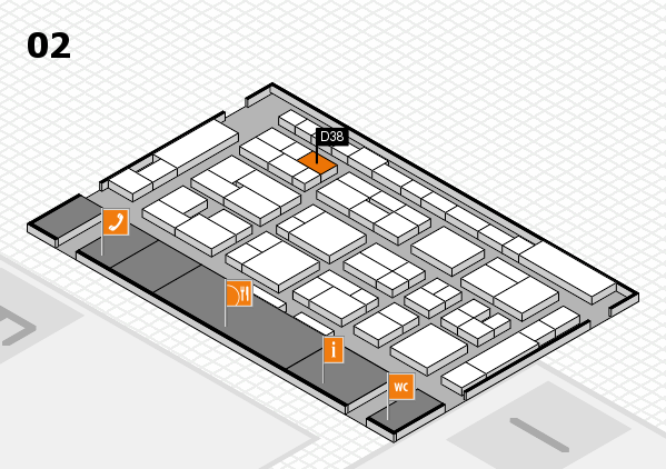 MEDICA 2016 hall map (Hall 2): stand D38