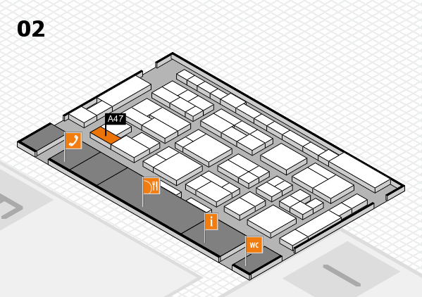 MEDICA 2016 hall map (Hall 2): stand A47