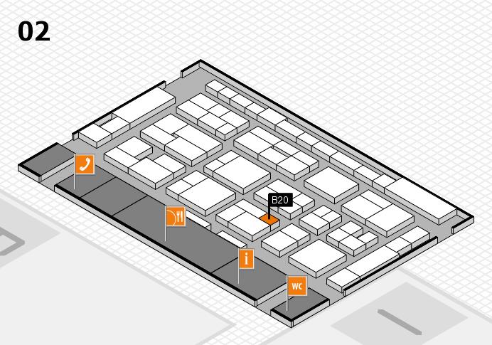 MEDICA 2016 hall map (Hall 2): stand B20
