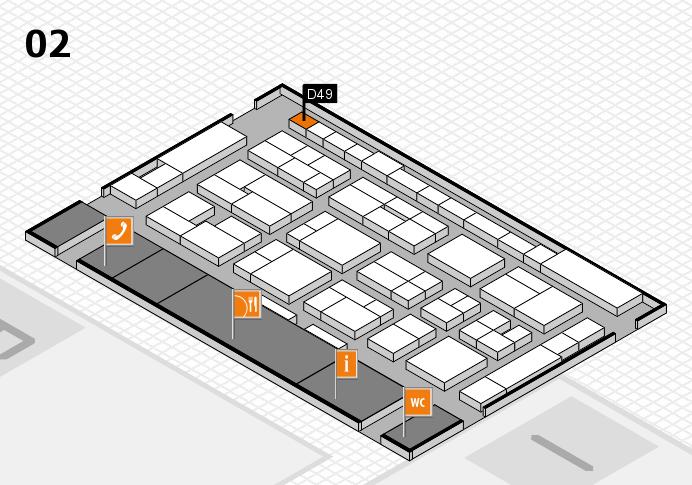 MEDICA 2016 Hallenplan (Halle 2): Stand D49