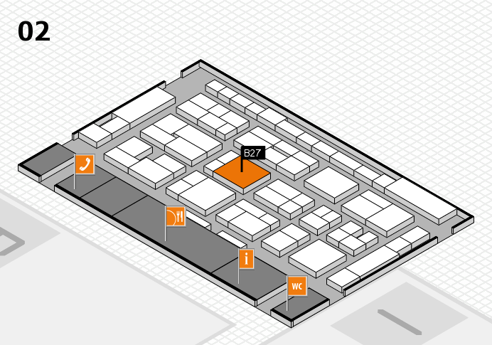 MEDICA 2016 hall map (Hall 2): stand B27