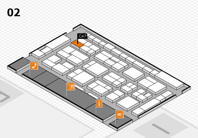 MEDICA 2016 hall map (Hall 2): stand C47