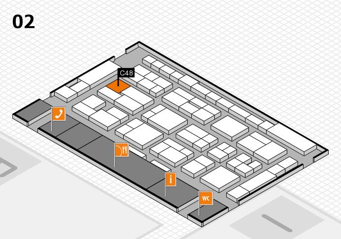 MEDICA 2016 hall map (Hall 2): stand C48
