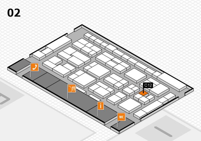 MEDICA 2016 hall map (Hall 2): stand C12