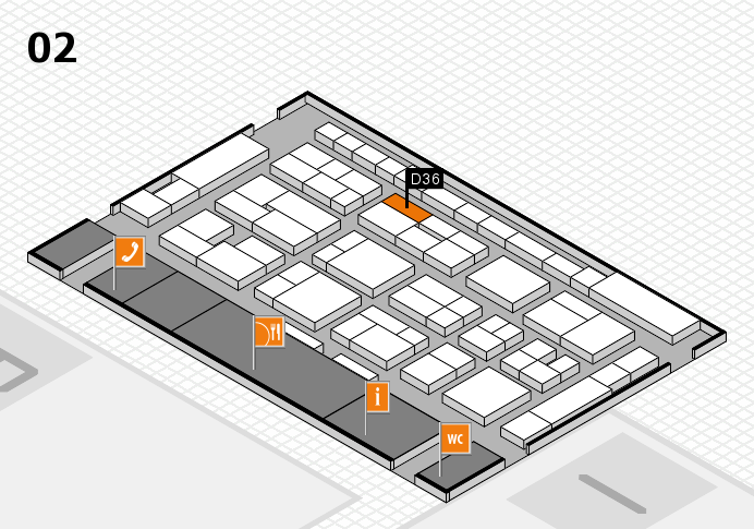 MEDICA 2016 hall map (Hall 2): stand D36