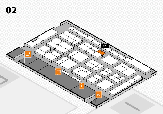 MEDICA 2016 hall map (Hall 2): stand D28