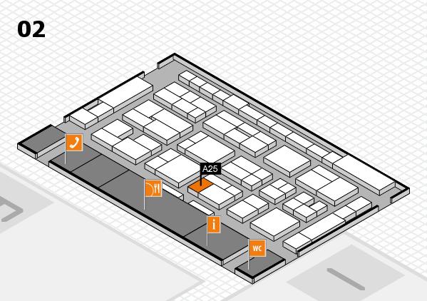 MEDICA 2016 hall map (Hall 2): stand A25