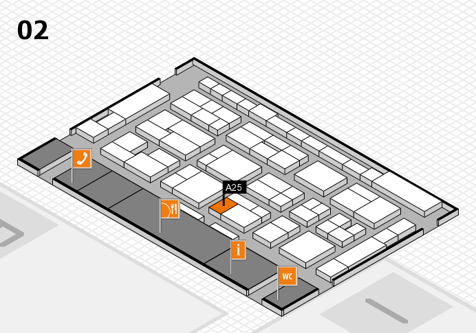 MEDICA 2016 hall map (Hall 2): stand A25