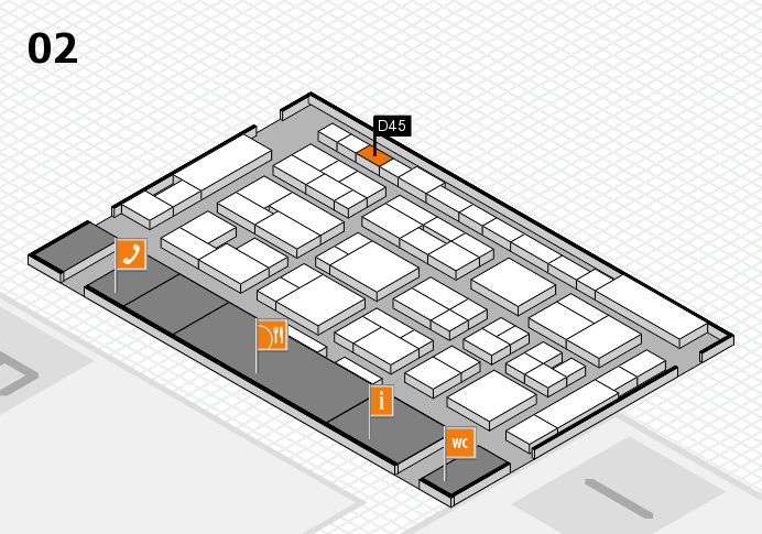 MEDICA 2016 hall map (Hall 2): stand D45