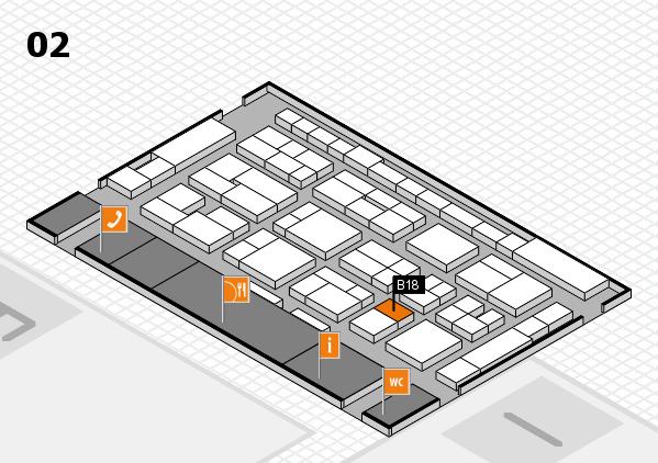 MEDICA 2016 hall map (Hall 2): stand B18
