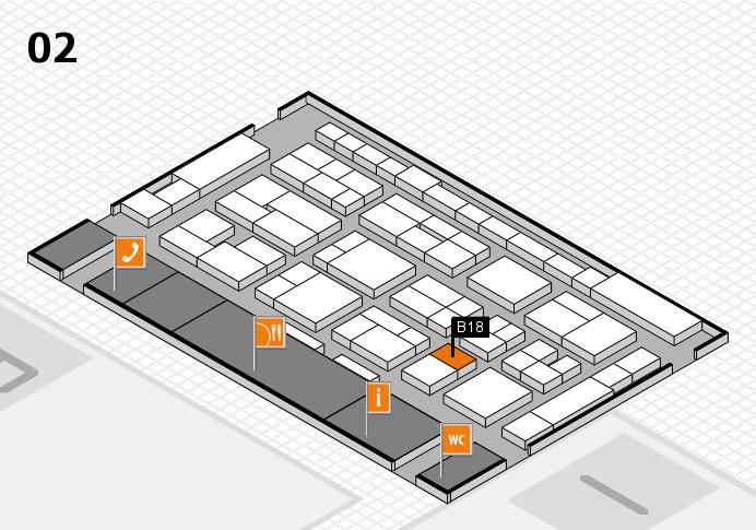 MEDICA 2016 Hallenplan (Halle 2): Stand B18