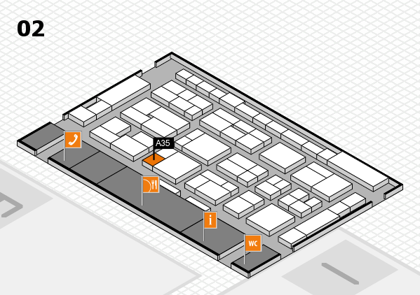 MEDICA 2016 hall map (Hall 2): stand A35
