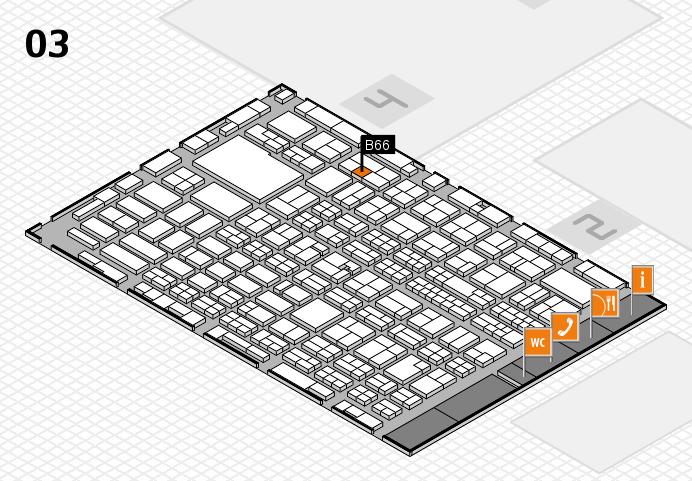 MEDICA 2016 hall map (Hall 3): stand B66
