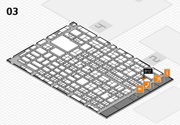 MEDICA 2016 hall map (Hall 3): stand B12