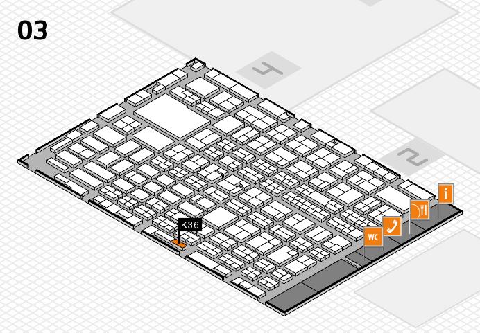 MEDICA 2016 hall map (Hall 3): stand K36