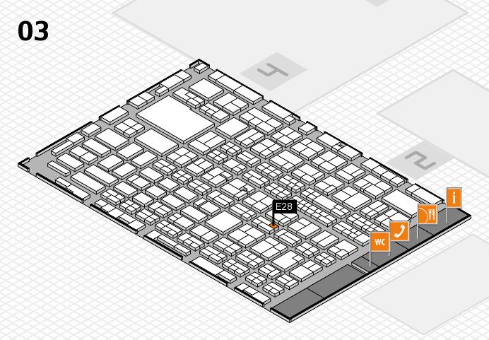 MEDICA 2016 hall map (Hall 3): stand E28