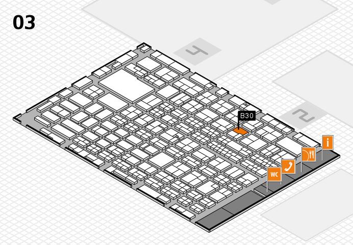 MEDICA 2016 hall map (Hall 3): stand B30