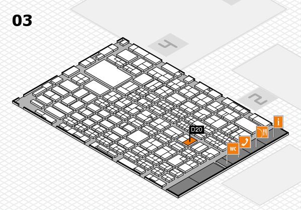 MEDICA 2016 hall map (Hall 3): stand D20