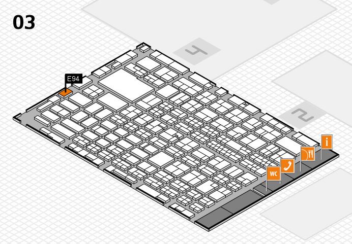 MEDICA 2016 hall map (Hall 3): stand E94