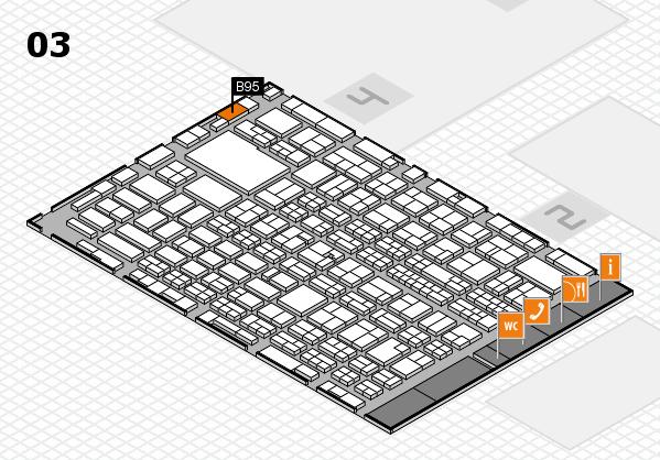 MEDICA 2016 hall map (Hall 3): stand B95