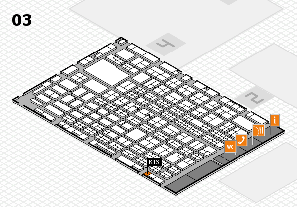 MEDICA 2016 hall map (Hall 3): stand K16