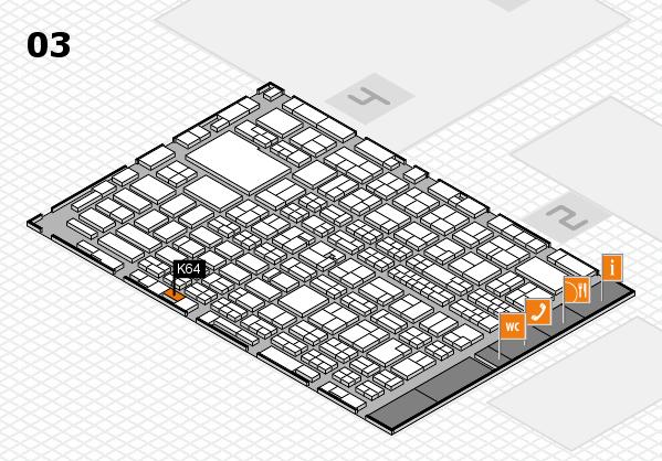 MEDICA 2016 hall map (Hall 3): stand K64