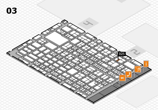 MEDICA 2016 hall map (Hall 3): stand B25