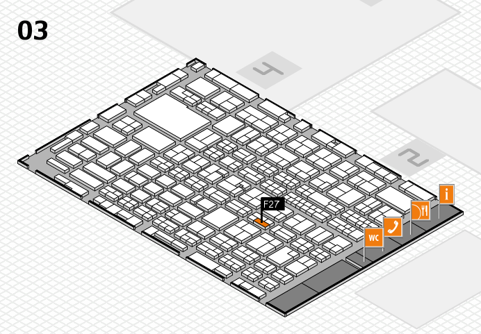 MEDICA 2016 hall map (Hall 3): stand F27