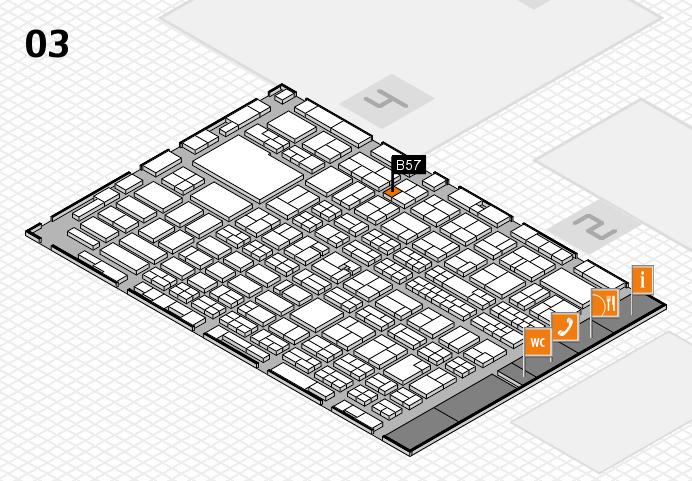 MEDICA 2016 hall map (Hall 3): stand B57