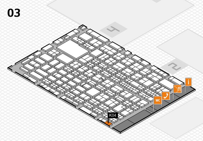 MEDICA 2016 hall map (Hall 3): stand K04