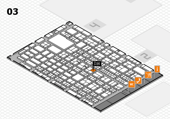 MEDICA 2016 hall map (Hall 3): stand D36
