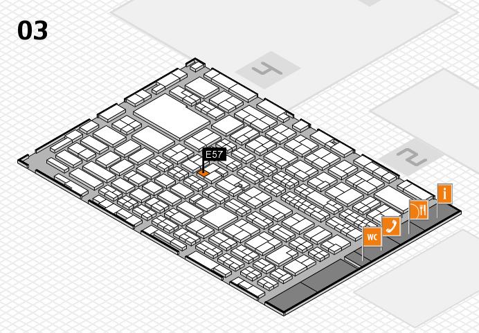 MEDICA 2016 hall map (Hall 3): stand E57