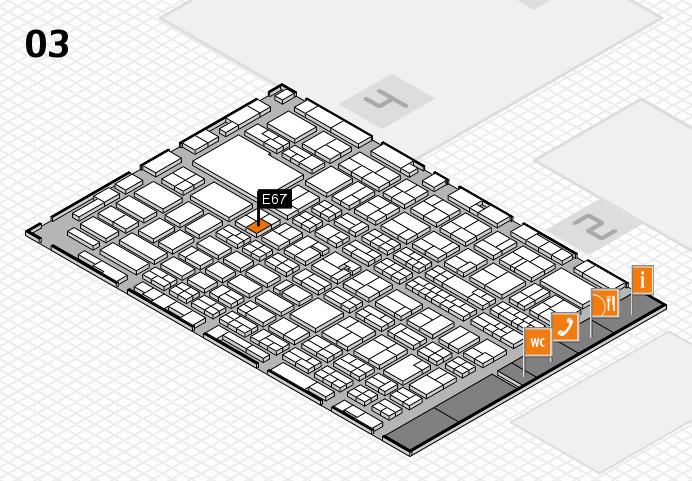 MEDICA 2016 hall map (Hall 3): stand E67