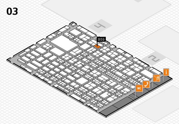 MEDICA 2016 hall map (Hall 3): stand B59